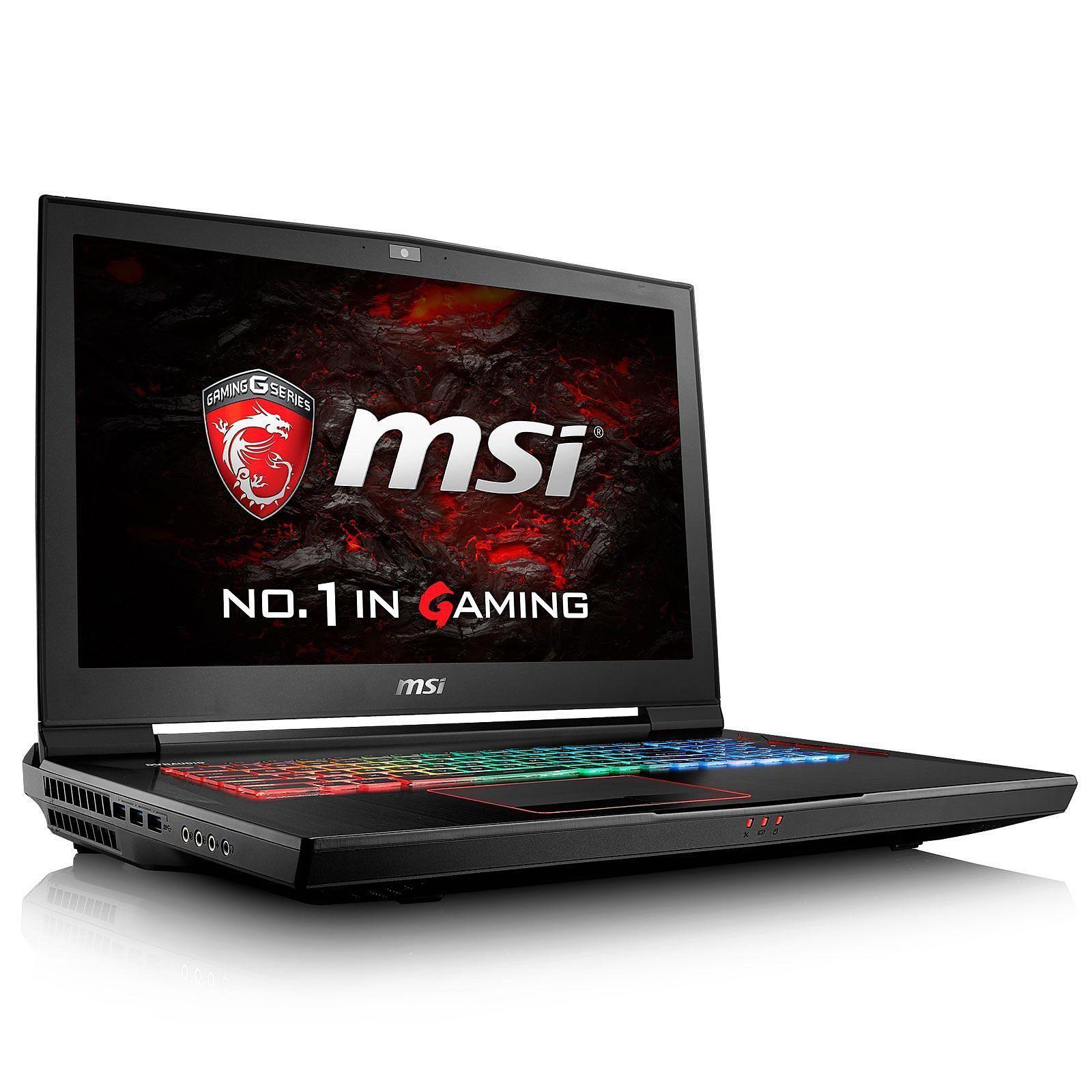 Titan Pro GT73VR 17″ MSI Core i7-7820HK – SSD 750 Go + HDD 1 To – 64 Go – GeForce GTX 1080 8Go – Prix d'origine 3790€ – NEUF